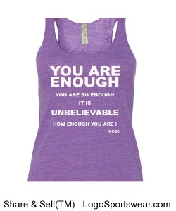 Ladies Meegs Eco Jersey Racerback Tank Design Zoom